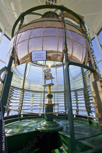 Montage in der Fensternische Leuchtturm Lighthouse First Order Fresnel Lens