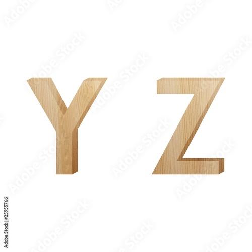 Valokuva  wood letter (yz)