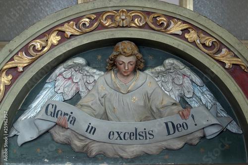 "Ange céleste déclarant ""Gloria in excelsis Deo!"" Poster Mural XXL"