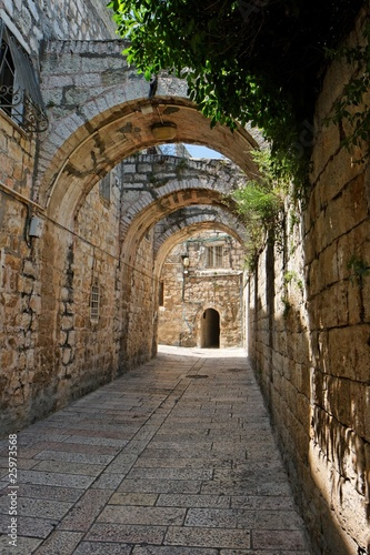 Arched passage in the Old City of Jerusalem