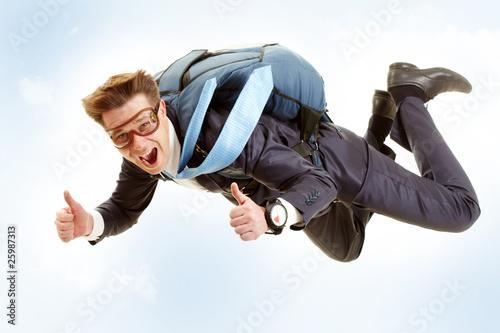 Fotografie, Obraz  Man flying