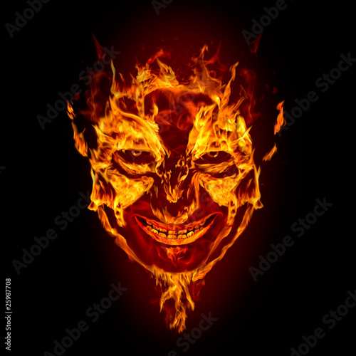 Photo fire devil face