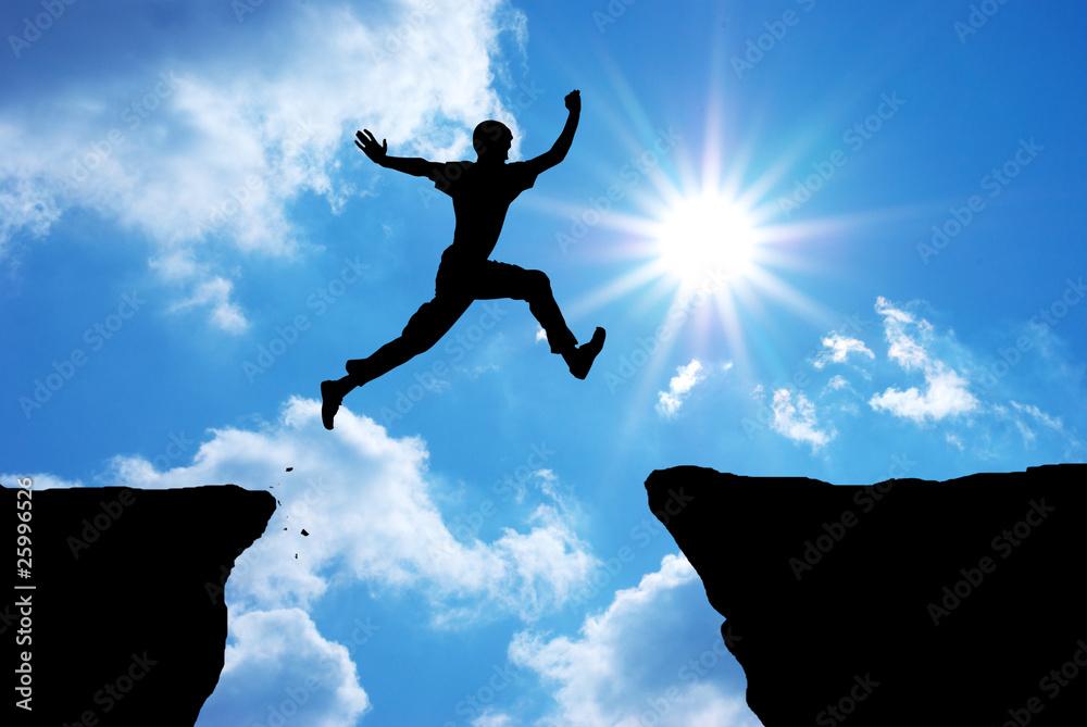 Fototapeta Man jump