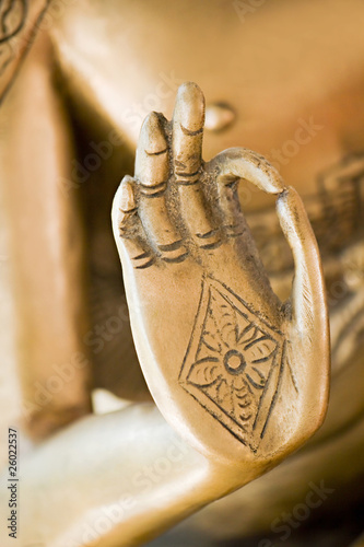 Tuinposter Boeddha Hand of the golden Buddha