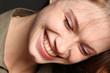canvas print picture - Frau beim Lachen