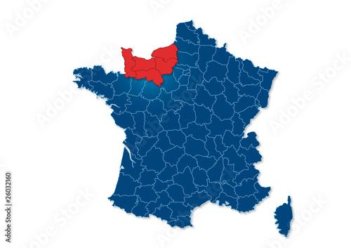 normandie carte de france région Normandie, carte France   Buy this stock vector and explore