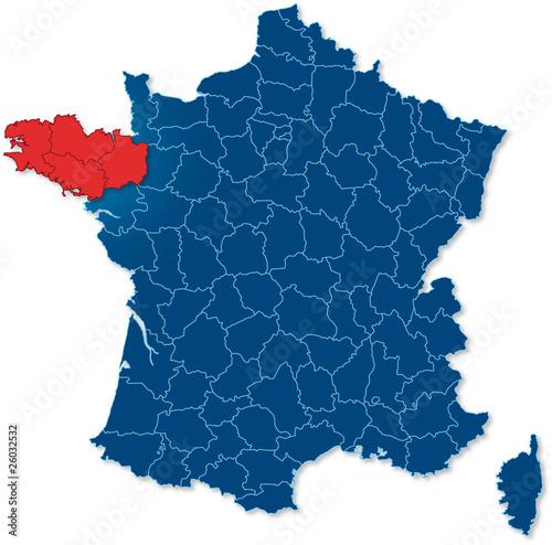 Region Bretagne Carte France Buy This Stock Vector And Explore Similar Vectors At Adobe Stock Adobe Stock