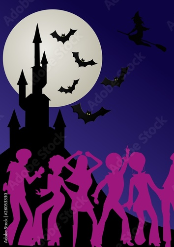 Castello Halloween.Disco Music Al Castello Di Halloween Buy This Stock Illustration