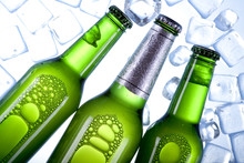 Three Green Chilled Beers