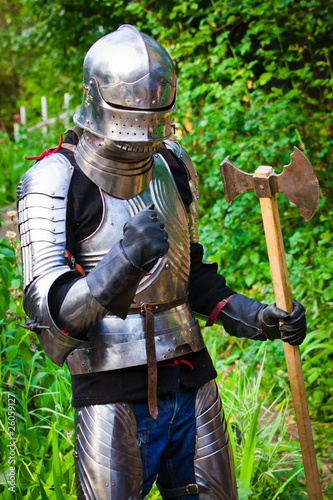 Tuinposter Ridders knight in shining armor