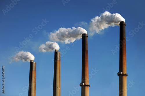 Leinwand Poster Industrial Smokestacks