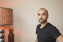 Mixed Race Man In Living Room