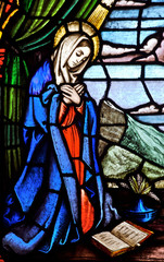Stained glass Saint Mary