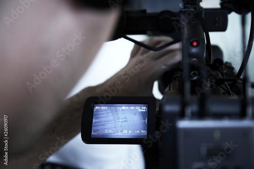 Fotografie, Obraz  Working cameraman