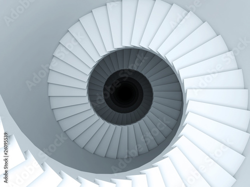 Canvas Print Spiral stair