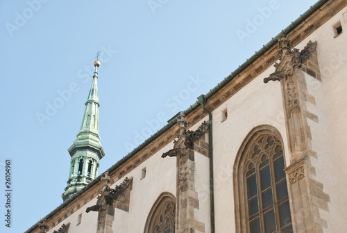 Photo  St. James Church in the center of Brno, Czech Republic.