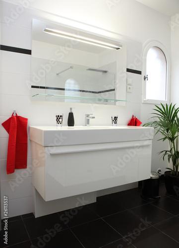 Photo Salle de bain blanche et noire #2