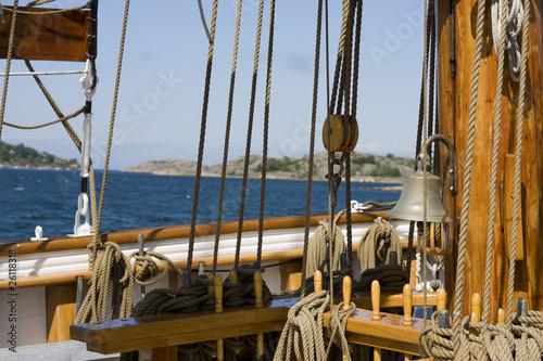 Tuinposter Schip segelschiff in schweden