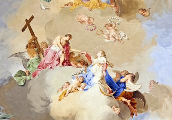 Fototapeta Do kościoła fresco ochsenhausen