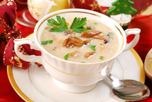 Mushroom Soup With Cream For C...