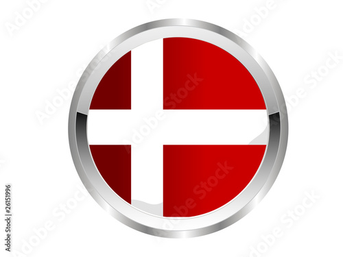 Dänemark Button - Silver Edition Poster
