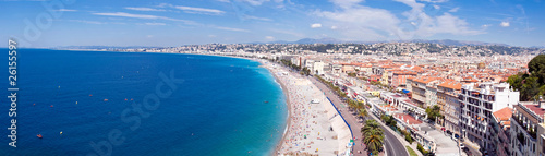 Photo Stands Nice Panorama Côte d'Azur - Nice et sa plage