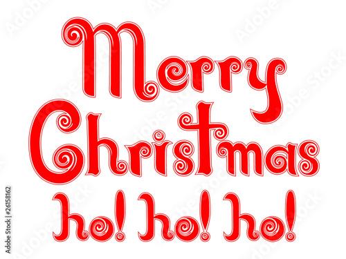 merry christmas ho ho ho in a peppermint candy cane design - Hohoho Merry Christmas