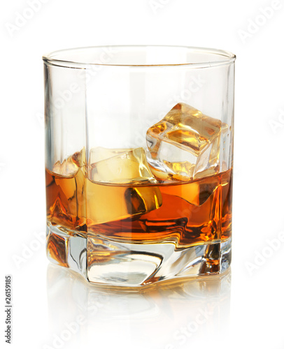 Tuinposter Alcohol Whiskey glass