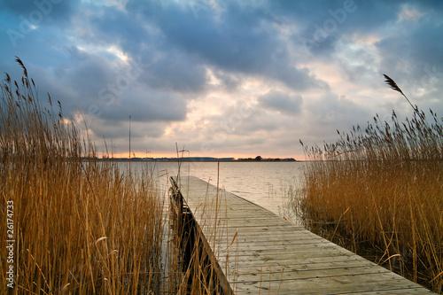 Foto-Leinwand - Abends am Achterwasser. (von Rico Ködder)