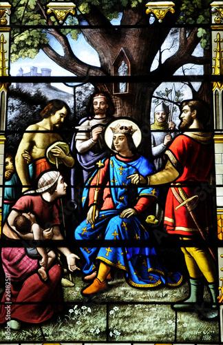 In de dag Monument France, vitraux de l'église d'Houlgate en Normandie
