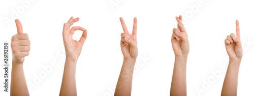 Photo  Gesten mit der Hand