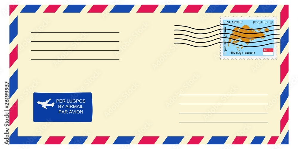 letter to/from Singapore Poster, Plakat | 3+1 GRATIS bei Europosters