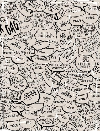 Obrazy z napisami kolaz-komiksowych-chmurek