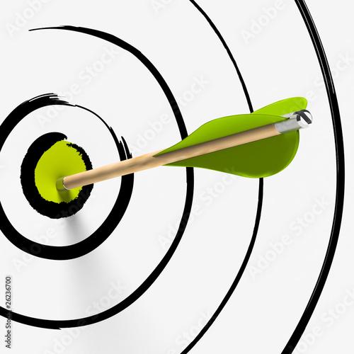 Fototapeta cible et flèche au centre - succès, stratégie et précision obraz