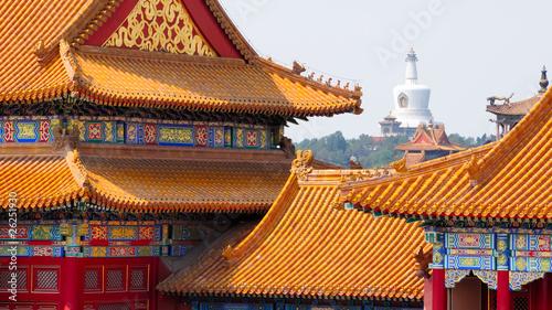 Foto op Aluminium Beijing Fassaden der Verbotenen Stadt no.2