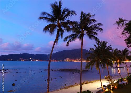 Fotografie, Obraz  Sunset at the Patong beach,  Phuket, Thailand
