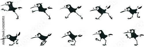 La marche d'un oiseau2 Canvas-taulu