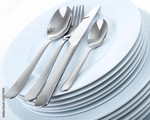 Fotografia  assiettes et couvert