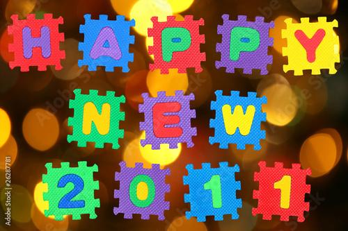 Staande foto Hoogte schaal Happy New 2011
