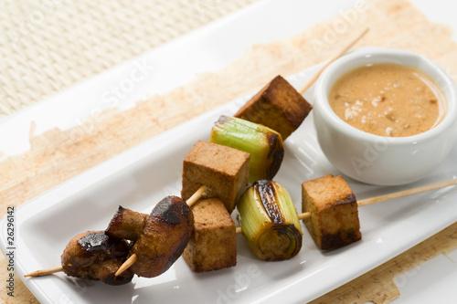 Asiatische vegetarische Spieße #26296142