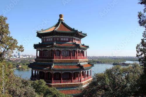 Foto auf Acrylglas Peking Pagode im Sommerpalast in Peking