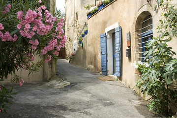 Fototapeta Uliczki French Village Street view Flower Provence France