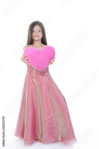 Garden Poster little girl with a beautiful heart