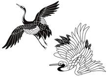 和柄模様3 鶴