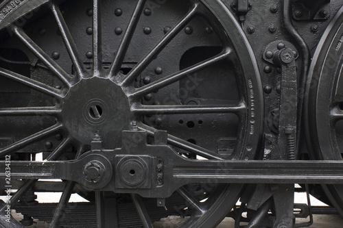 Carta da parati Steam engine wheel