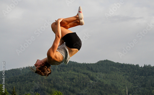 gymnast doing somersault