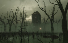 Haunted Tower In The Swamp
