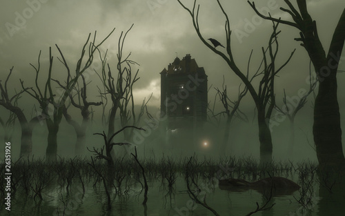 Fotografia Haunted Tower in the Swamp