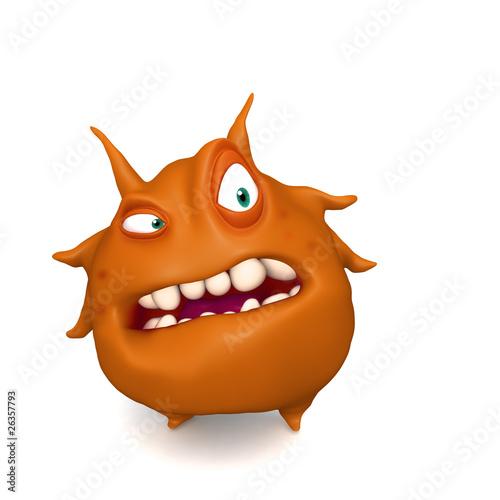 Poster de jardin Doux monstres big red virus