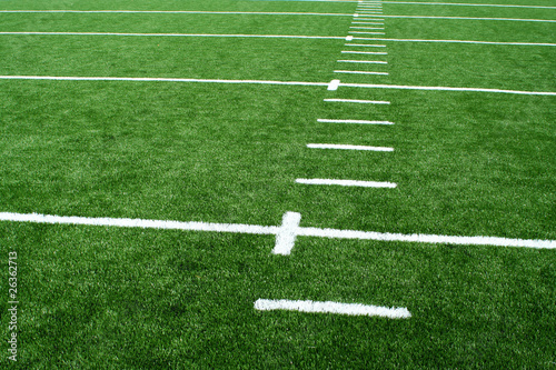 Astro turf football field Canvas Print